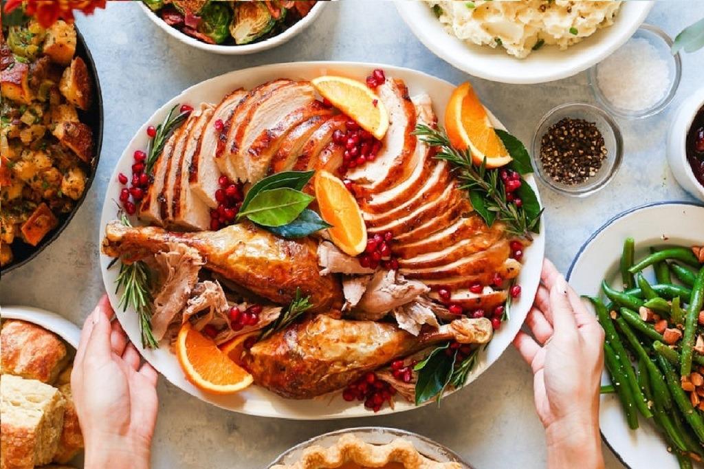 Platting the Thanksgiving Turkey